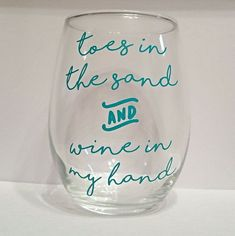 Toes in the Sand Stemless wine glass @VinoPlease #VinoPlease