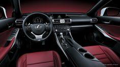 2015 Lexus IS350 F Sport Interior in red