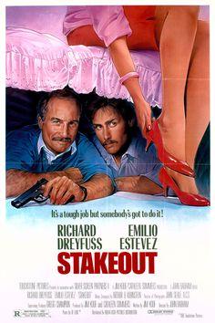 Stakeout (1987) Stars: Richard Dreyfuss, Emilio Estevez, Madeleine Stowe, Aidan Quinn, Dan Lauria, Forest Whitaker ~ Director: John Badham