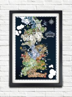 Game of Thrones Westeros Map poster