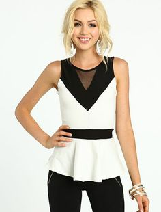Color Block Peplum Top  Click The Pic And Learn How You Can Earn Money While Still Having Fun On Pinterest