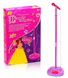 Kids Authority Pink Music Pop Star Singalong Microphone/Adjustable height /volume -Princess Microphone by Kids Authority. $39.95. Great for Kids 3 and up