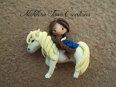 Cute Girl Rideing Horse Polimer Clay   Flickr - Photo Sharing!