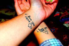 I want an 'I love you more' tattoo for my mom so bad!!! But with a prettier font.