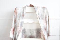 Kiku Floral Kimono Jacket Haori, Japanese Vintage Gown, Robe, Coverup, Asian Wall Display, Kimono Accessory, Bridal Wear, Gifts Under 100 by CJSTonbo on Etsy