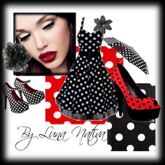 Polka Dots Pin Up, created by Luna Nativa