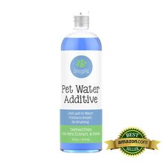 All-natural, this dog breath freshener is the ultimate water additive to clean the breath of your dog or cat. Fights bacteria, cleans teeth and prevents plaque and tartar build up promoting whiter and Dog Dental Care, Dog Care, Yorkie Hairstyles, Meds For Dogs, Dog Breath, Dog Cookies, Teeth Cleaning, Puppy Love, Fur Babies