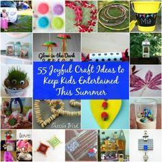 55 Joyful Craft Ideas to Keep Kids Entertained This Summer – DIY & Crafts Diy Arts And Crafts, Creative Crafts, Fun Crafts, Crafts For Kids, Autumn Leaves Craft, Summer Fun For Kids, Kids Fun, Leaf Crafts, Craft Activities