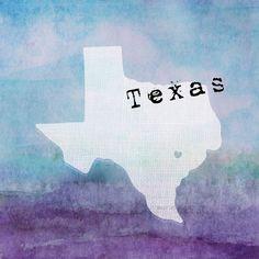 Texas I love you- 8x8 Art Print