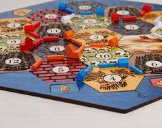 Siedler von Catan Board | Birke, Custom, Holz, lasergeschnitten