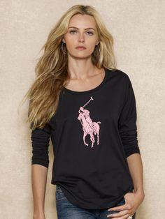 Pink Pony Long-Sleeved Tee - Pink Pony Long-Sleeve - RalphLauren.com