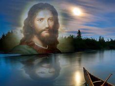 Volto di Cristo (foto ritoccata con Photoshop)