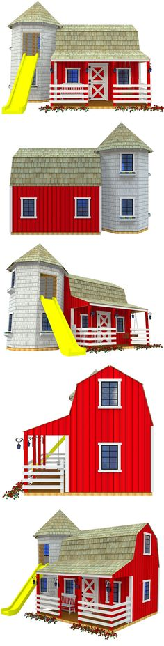 The Barn & Silo playhouse plan, hosted on paulsplayhouses.com