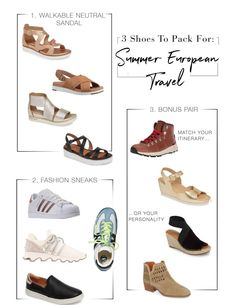The Best Shoes to Pack for Summer European Travel (Reader Question) – The Mom . The Best Shoes to Pack for Summer European Travel (Reader Question) – The Mom Edit Europe Travel Outfits, Travel Outfit Summer, Packing List For Travel, Summer Travel, Packing Tips, Summer Outfits, Packing Shoes, Vacation Packing, Smart Packing