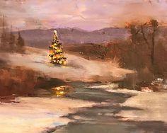 Silent Night, Colorado by Ann Feldman Oil ~ 6 x 8