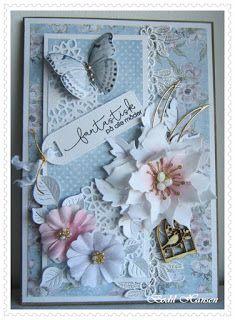Marianne Design, Butterflies, Birthday Cards, Shabby Chic, Scrap, Frame, Flowers, Handmade, Crafts