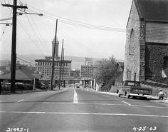 Looking down James Street, 1963