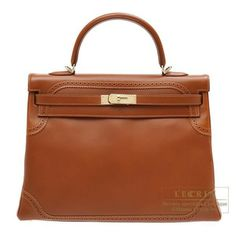 Hermes Kelly Ghillies Bag 35 Retourne Fauve Tadelakt Leather Champagne Gold Hardware from Discountpluss for $24,000.00 on Square Market