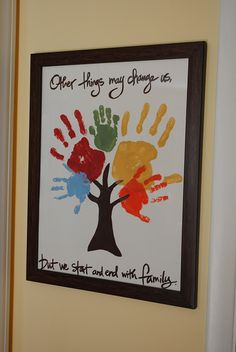 Ahhh could have my Nephews and Neices do this... or even with a photo of each of their hands...CUTE!!