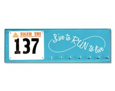 Running Medal Holder and Race Bib Hanger - Live to RUN Run to LIVE