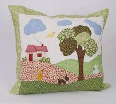 I Love Crafts: Cushions - Stella Patchwork Quilting, Crazy Quilting, Patchwork Cushion, Quilted Pillow, Free Motion Embroidery, Applique Embroidery Designs, Applique Patterns, Quilt Patterns, Applique Cushions