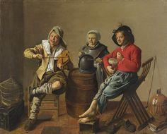 Deux garçons et une fille faisant de la musique, 1629 Jan Miense Molenaer