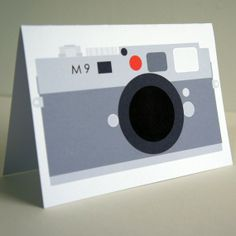 The red dot camera Greetings Card by thehousesparrow on Etsy