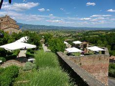 La Valtiberina Toscana dalle mura di Anghiari