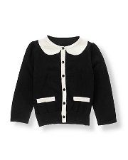 Janie and Jack tipped cardigan (MC)