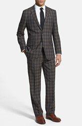 English Laundry Trim Fit Plaid Suit