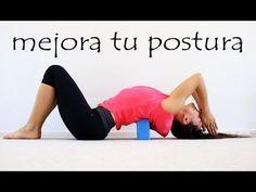 Cómo corregir la postura de la espalda encorvada mediante ejercicios, automasajes y estiramientos - YouTube