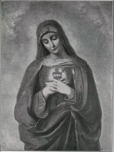 The Sacred Heart of Mary Jesus Mother, Blessed Mother Mary, Blessed Virgin Mary, Catholic Art, Catholic Saints, Religious Art, Roman Catholic, Hail Holy Queen, Jesus E Maria