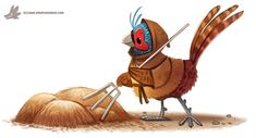 Daily Paint #1161. Peasant by Cryptid-Creations.deviantart.com on @DeviantArt