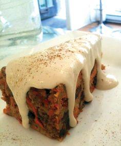 Earthsave Canada - Raw Carrot Cake Recipe Vegan Desserts, Raw Food Recipes, Veggie Recipes, Cake Recipes, Dessert Recipes, Vegan Food, Raw Carrot Cakes, Eating Raw, Clean Eating