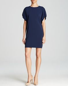 Cynthia Steffe Dress - Clarabelle Ruched Sleeve Shift | Bloomingdale's