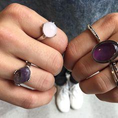Some new gems! ❤️ #ardenelove #moodring #rings #accessories #feelings