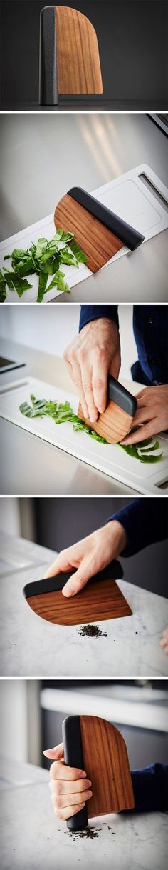 As Chifen Cheng put it, the Knife Reinvented is a salad knife that does more than just cut. Utilizing the hand as a pestle, this salad knife is not only hyper-functional, it's aesthetically gorgeous due to the material contrast. The use of a wooden blade prevents the oxidation reaction with lettuce, usually caused by a stainless-steel blade, ensuring the lettuce doesn't start browning straight away.