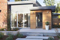 Exterior, looking through entry - midcentury - exterior - san francisco - Klopf Architecture