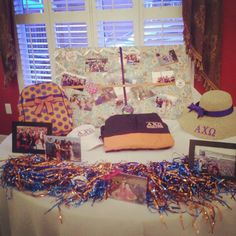 Alpha Chi game day table for recruitment