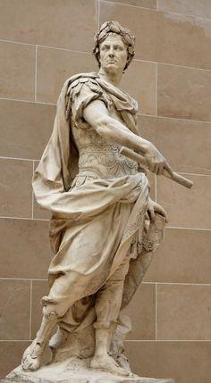 sculpture & statues | nicolas coustou | gaius lulius caesar | 1696 | louvre museum