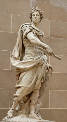 Julius Caesar. Commissioned in 1696 for the Gardens of Versailles~Nicolas Coustou (1658-1733)