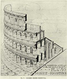 drawing of colosseum Architecture - Google Search