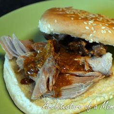 Slowcooker Honey & Parmesan Pulled Pork Sandwiches