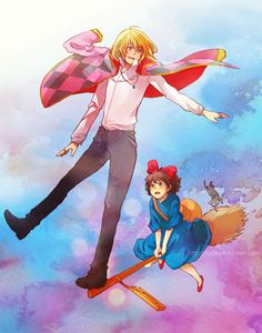 Kiki's deliver service and howls moving castle..... YES!!!!!!! #anime #ghibli