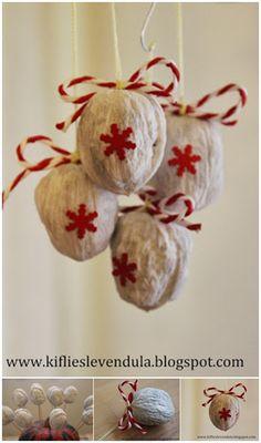 Walnut Christmas ornaments