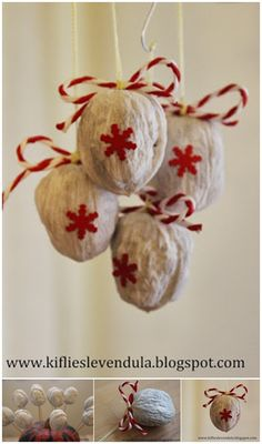 Walnut Christmas ornaments