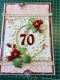 Kort til 70 års fødselsdag Maja Design 2016