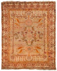 Oushak Angora Rug Number 15658, Antique Oushak Rugs (Turkish) | Woven Accents