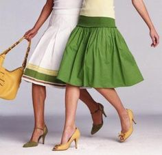 Love both skirts, love both pairs of shoes.