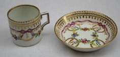 MAGNIFICENT-19C-ROYAL-VIENNA-HAND-PAINTED-CUP-SAUCER